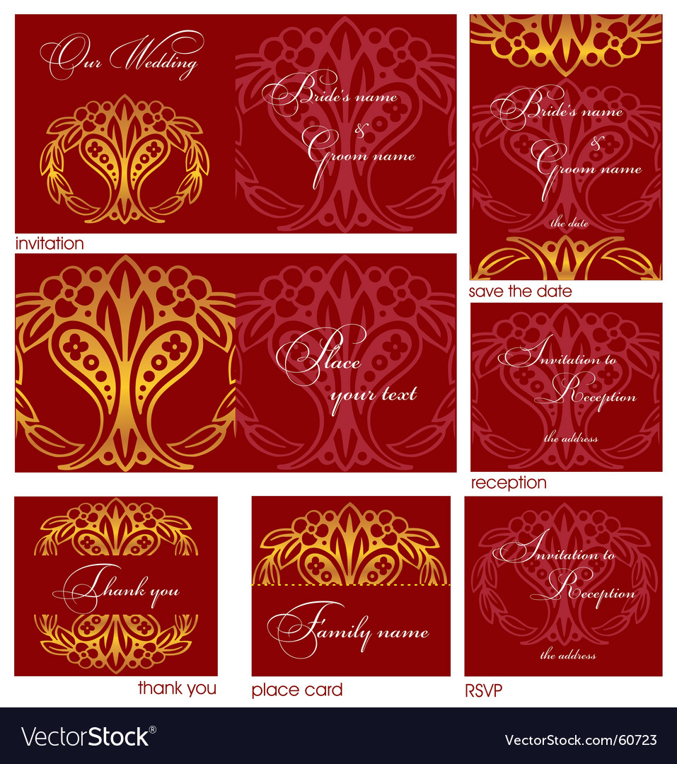 Reception cards royalty free vector image vectorstock reception cards vector image stopboris Image collections