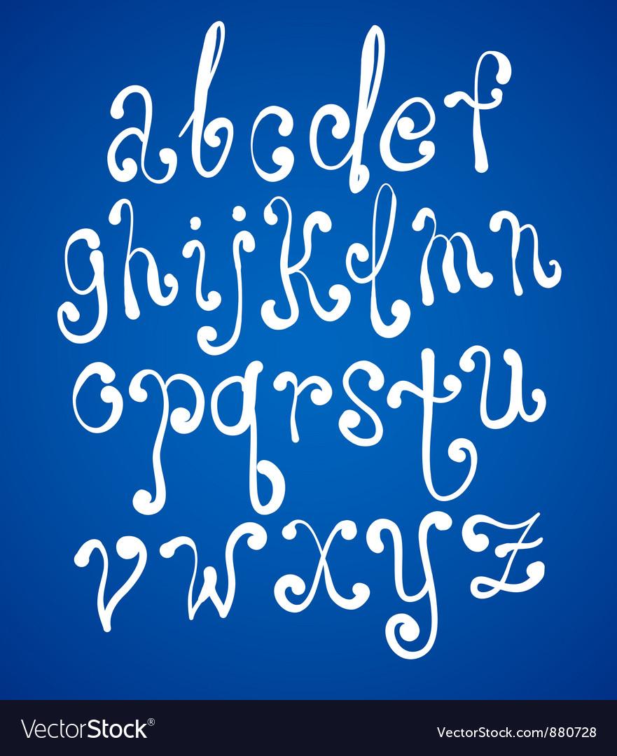 Art sketching set of font symbols