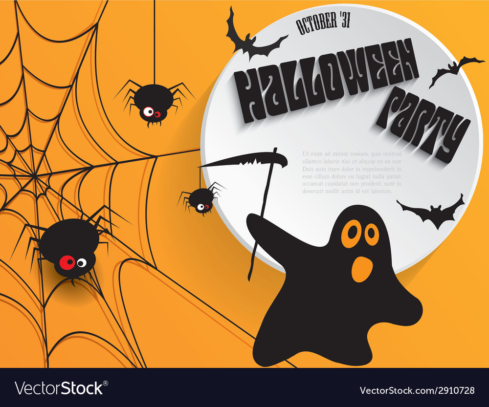 Halloween Creative Ads.Creative Halloween Party Poster With Message