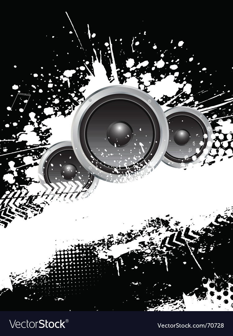 Grunge music vector image
