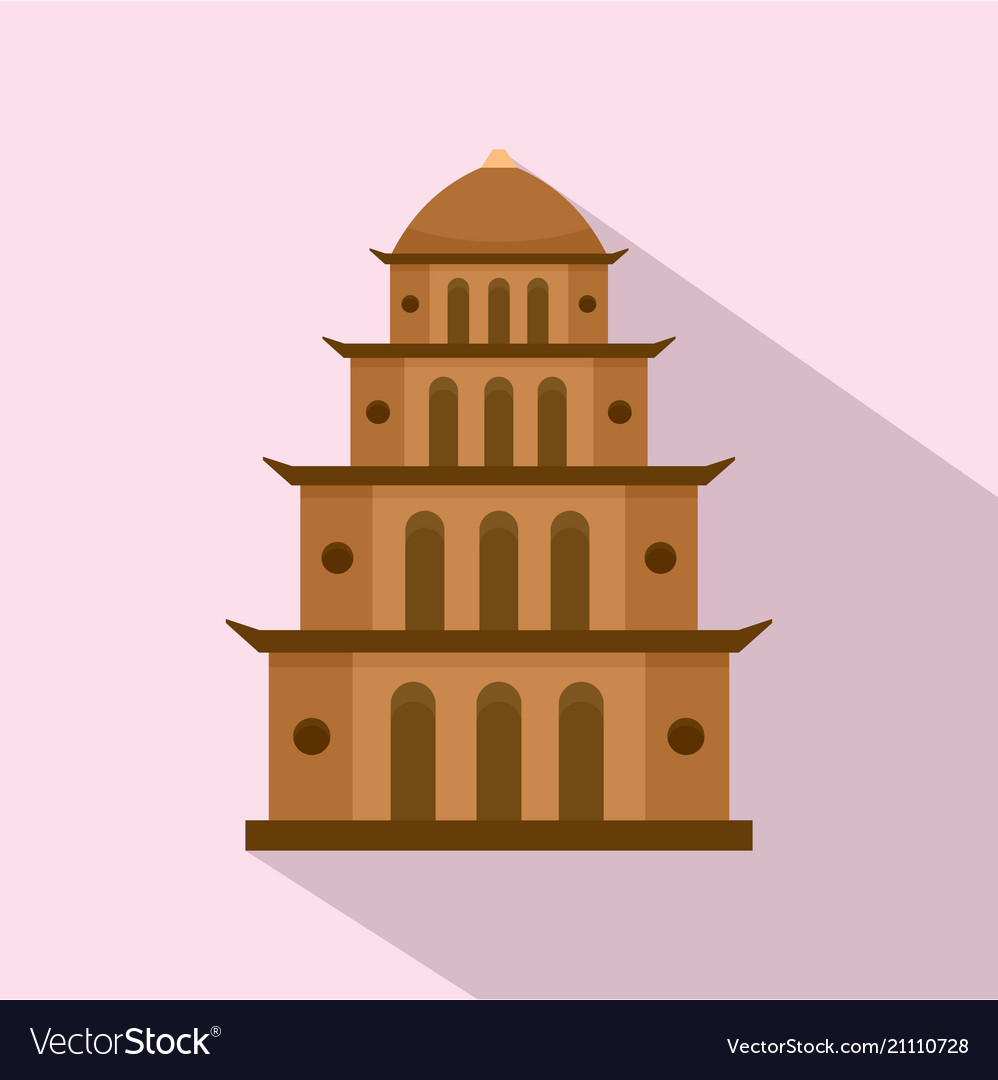 Temple icon flat style