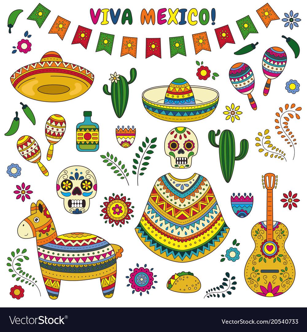 Cinco De Mayo Celebration In Mexico Cartoon Vector Image