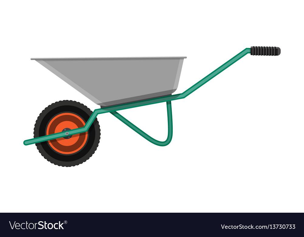 Garden metal wheelbarrow