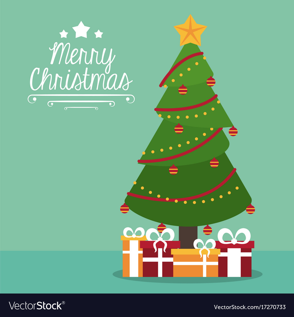 Merry christmas cute card Royalty Free Vector Image
