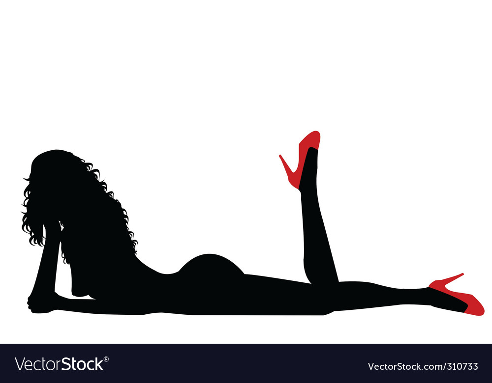 Sexy Woman Silhouettes Illustration