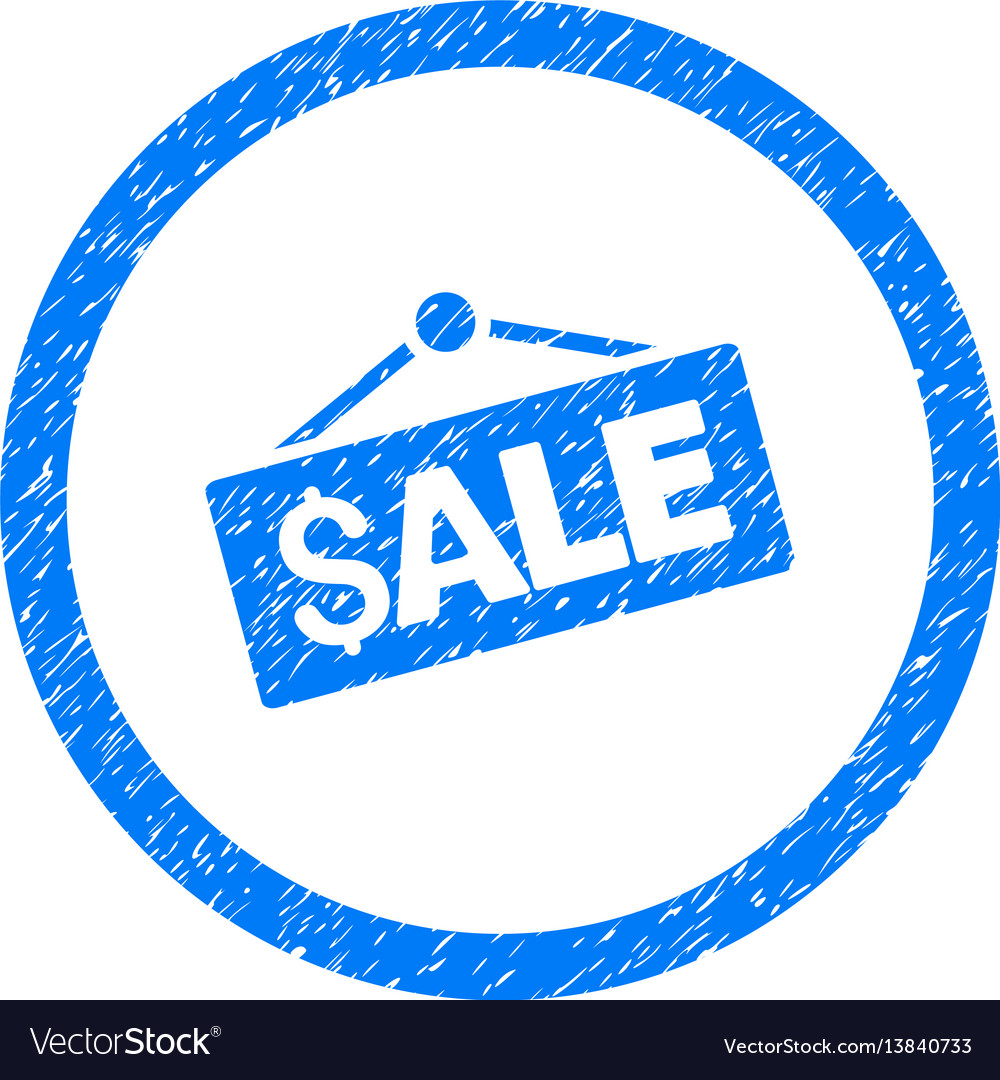 Sale signboard rounded grainy icon