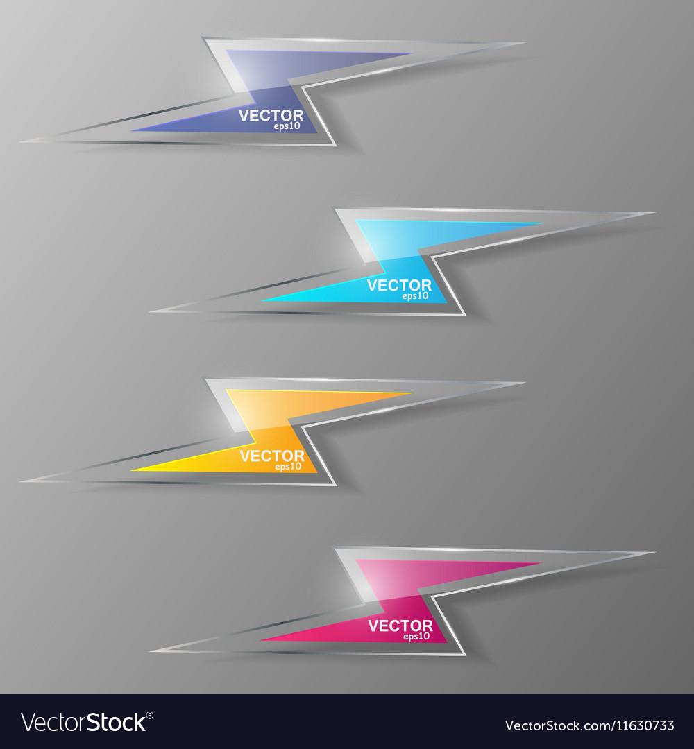 Set of glass lightning icon vector image