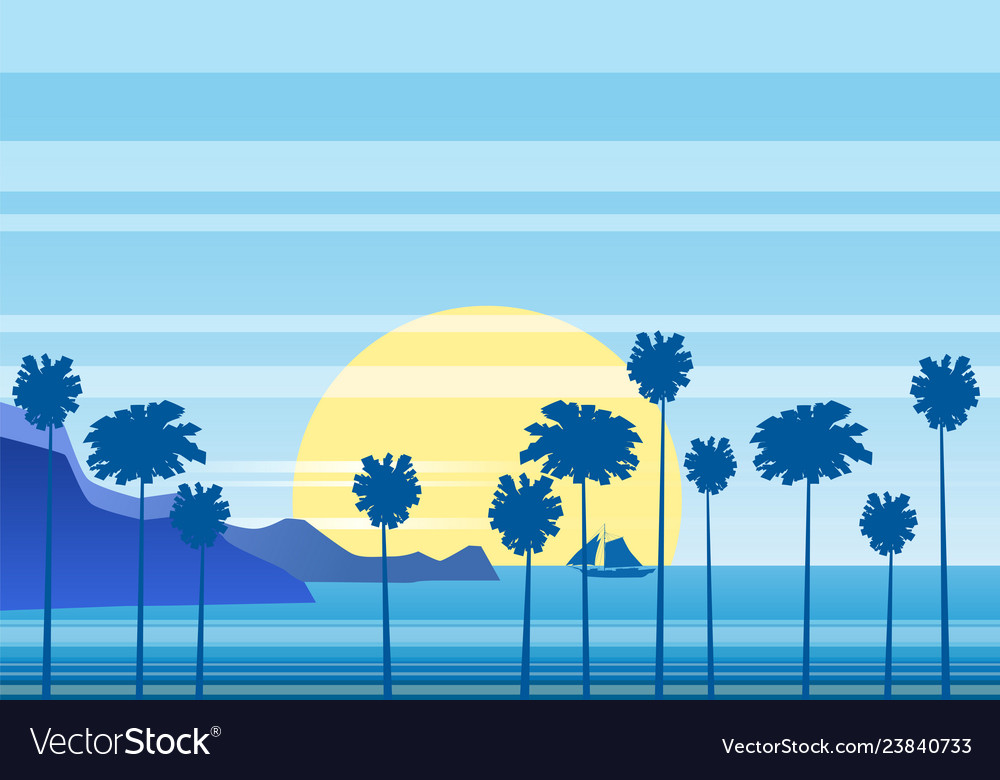 Summer sunny tropical backgrounds seascape with