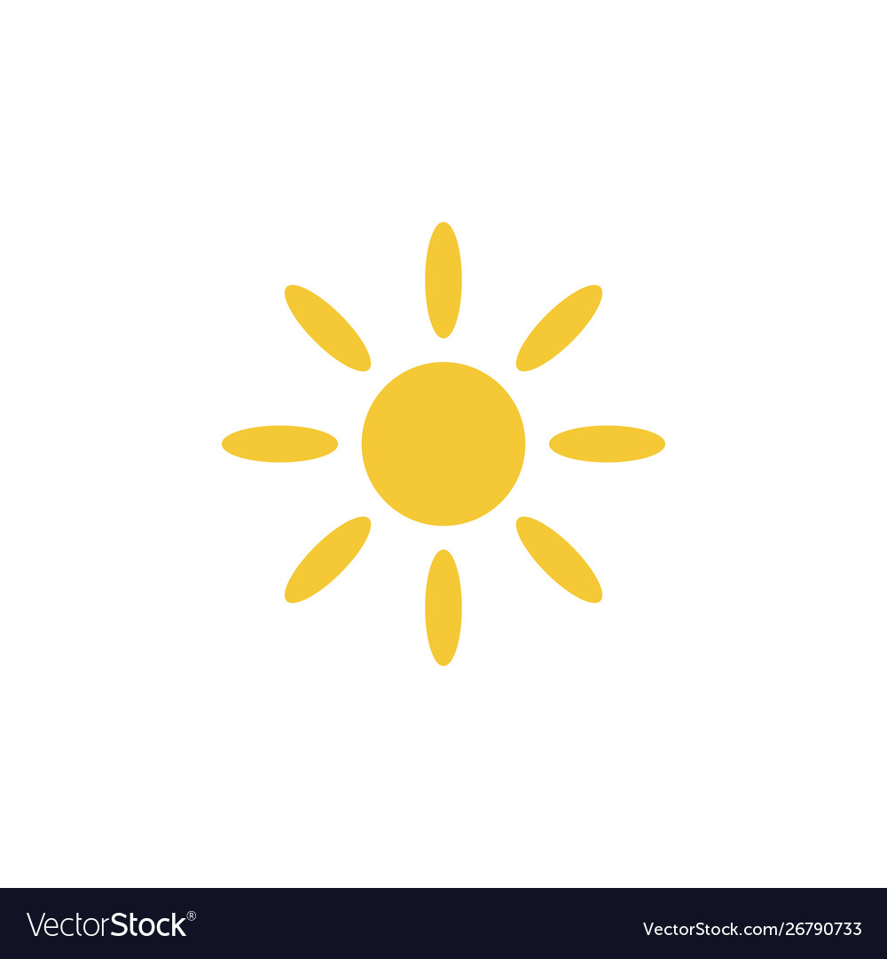 Sun icon - simple element summer concept sun