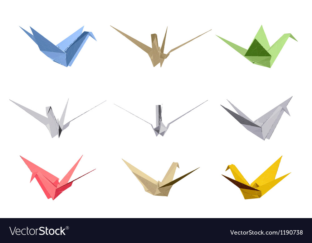 Origami triangle style elements