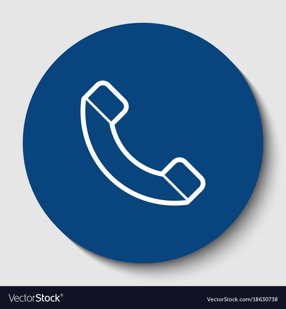 Phone sign white contour