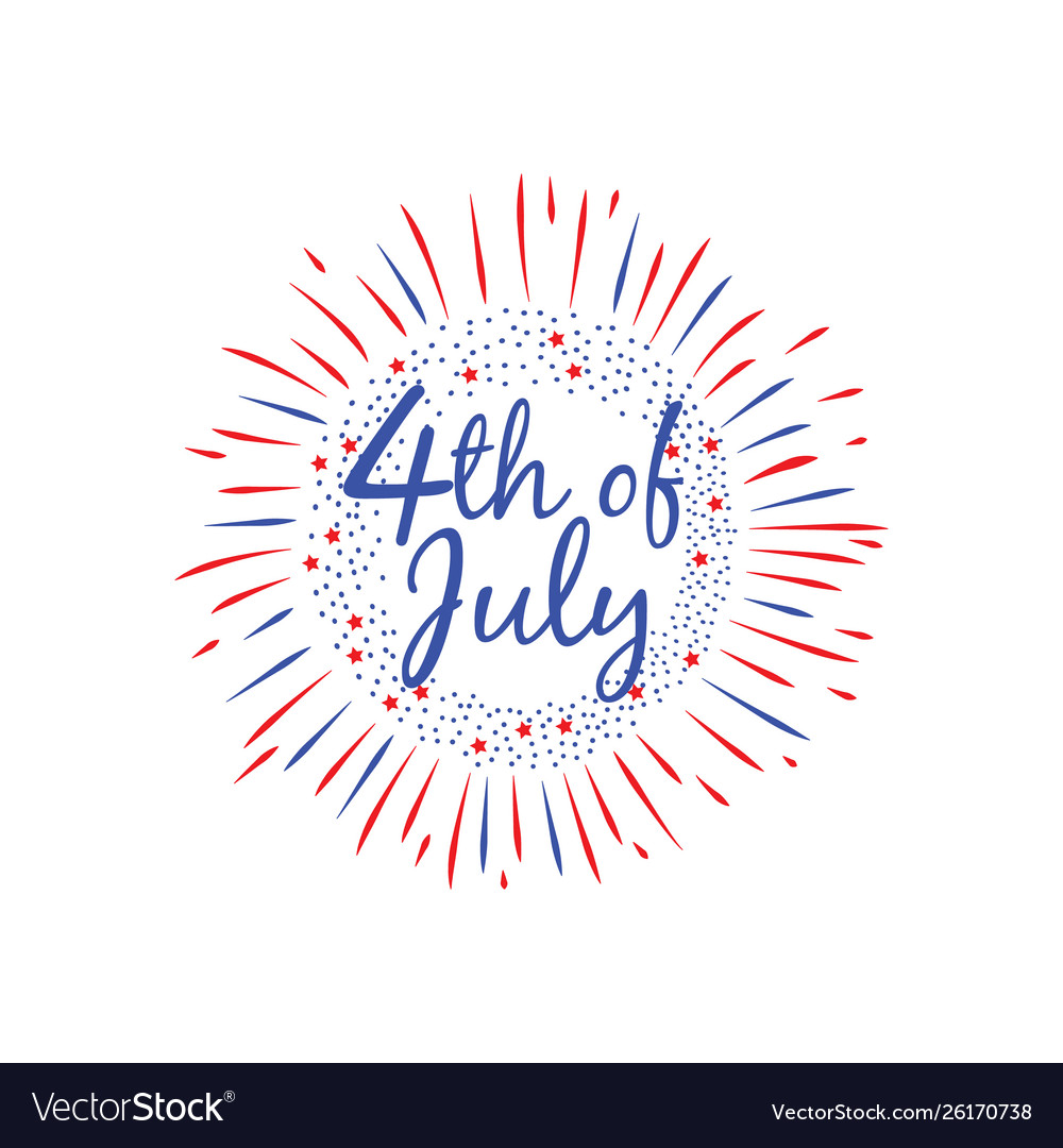 Usa independence day 4 th july banner flat