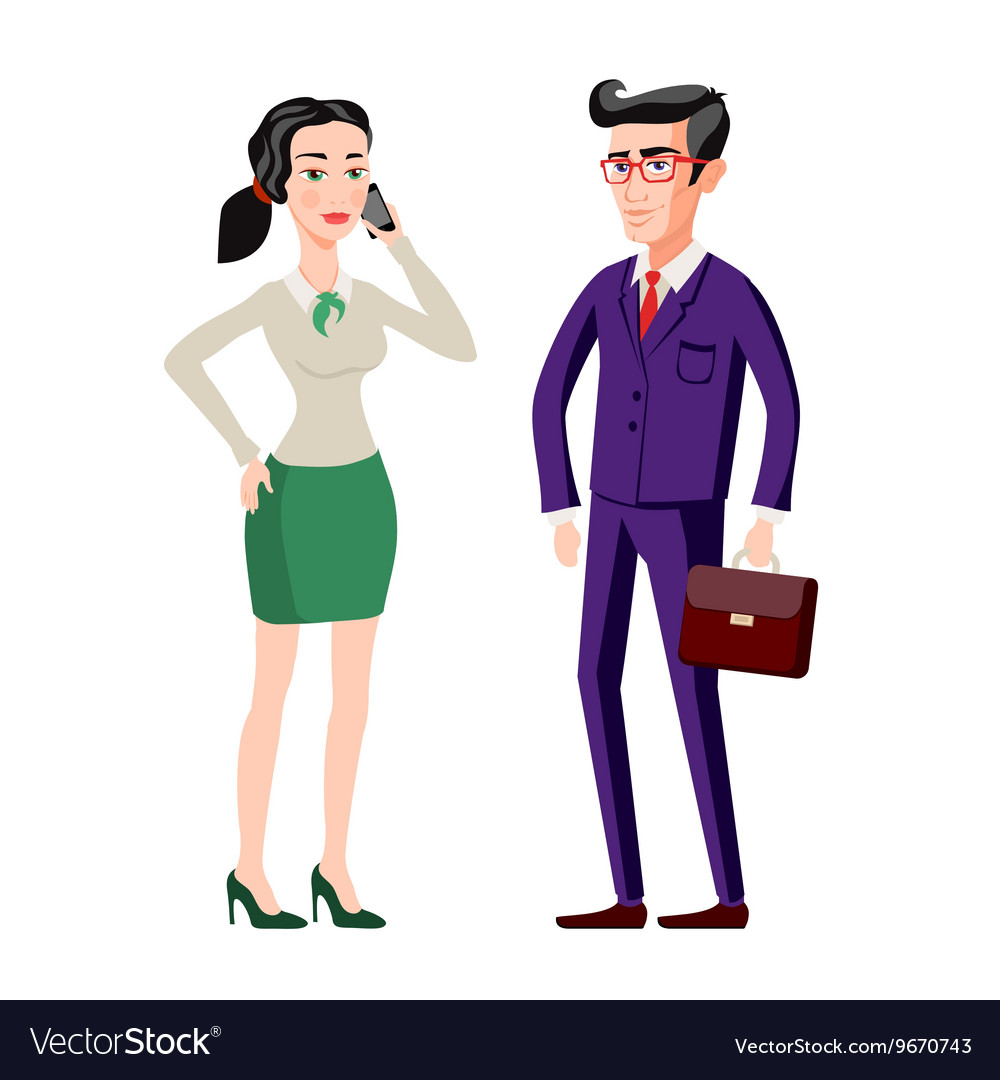 Business people man and woman consults over book