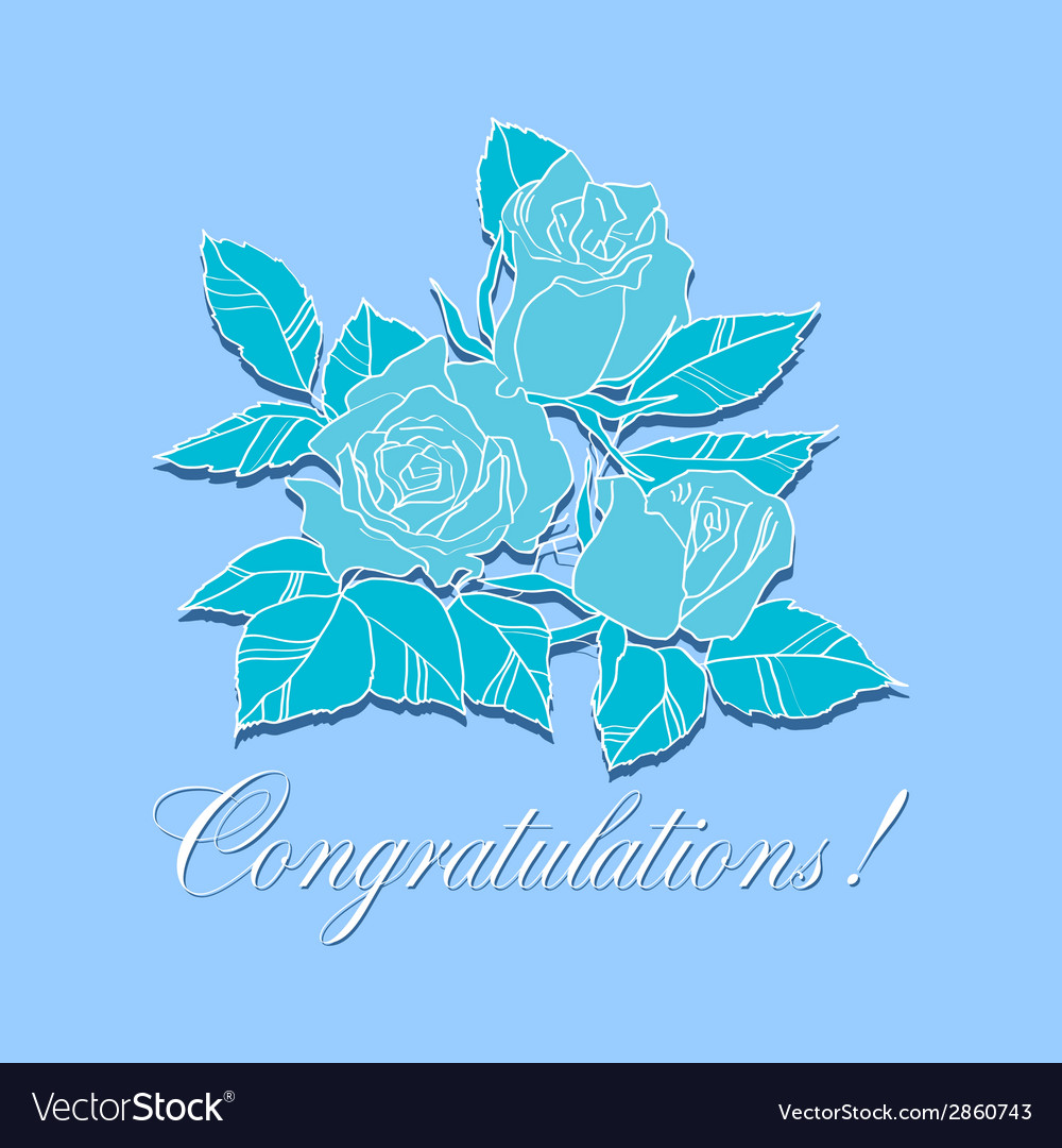 Congratulation with roses