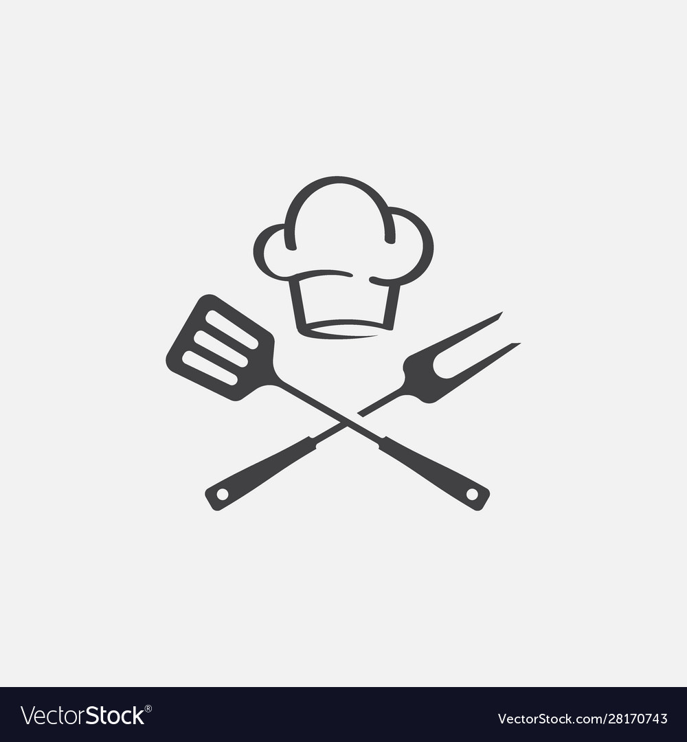 Grill icon bbq icon fork and spatula