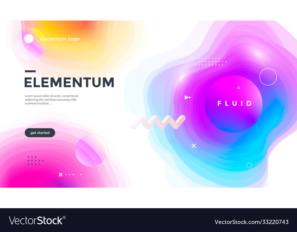 Minimal poster layout with vibrant gradient blurs