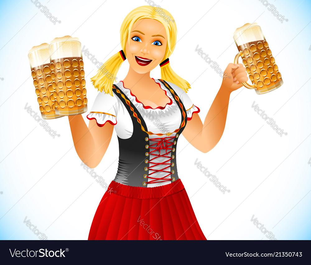 Oktoberfest girl beer glass germany holiday