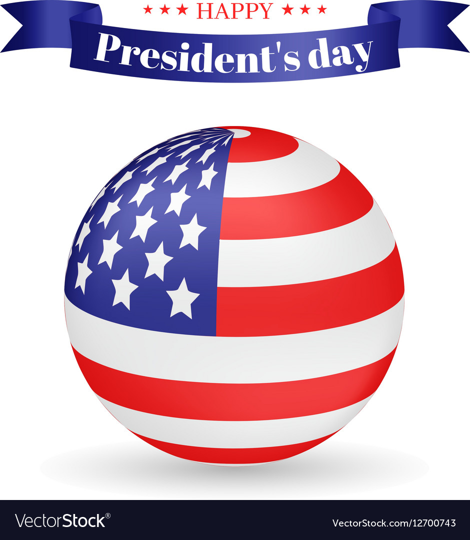 President s Day American flag vector image