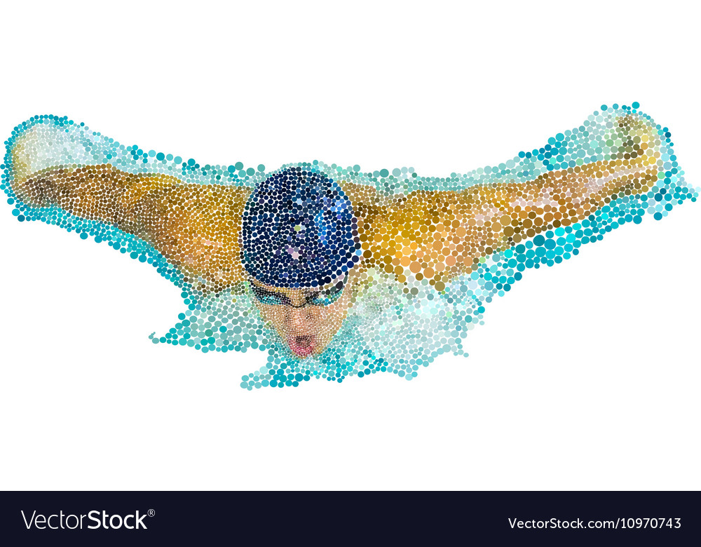 Swimmers athletes vector image