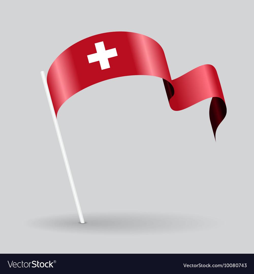 Swiss wavy flag