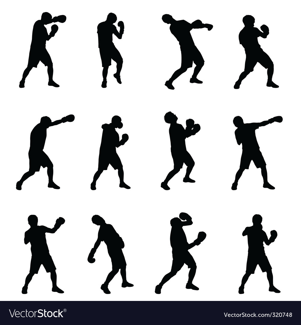 Boxing silhouettes