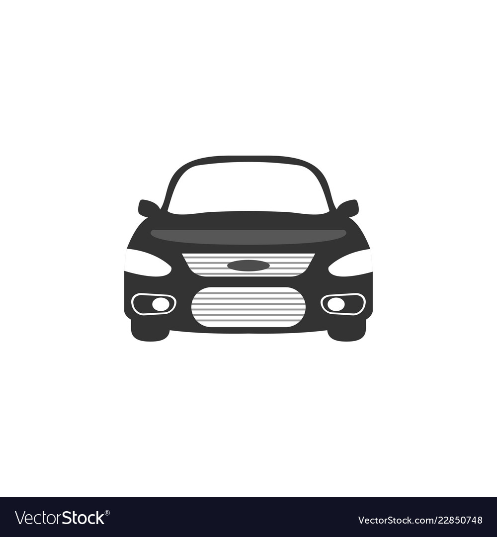 Car front side graphic design template