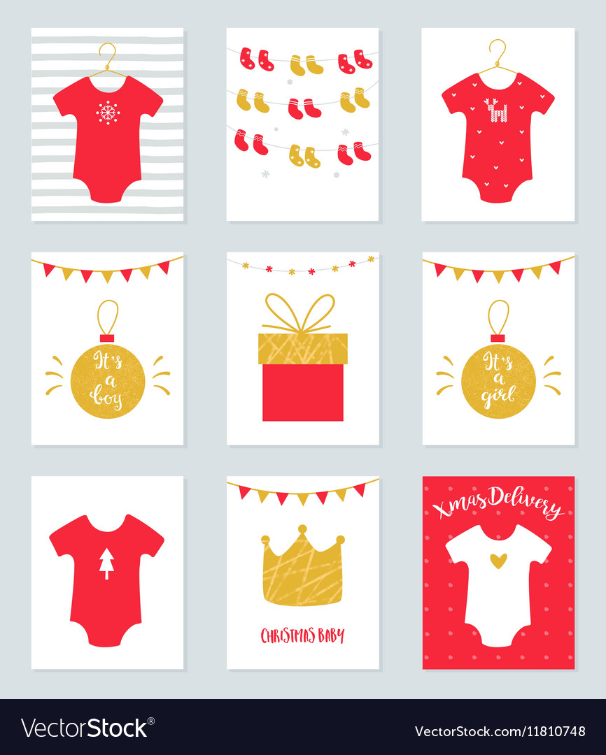 Christmas Baby Shower Invitations and Announcement