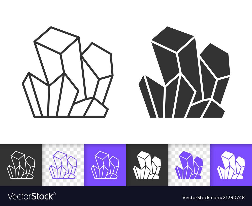 Crystal simple black line icon