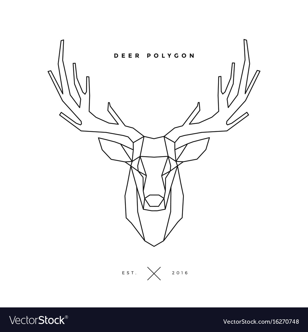 Deer frame on white Royalty Free Vector Image - VectorStock