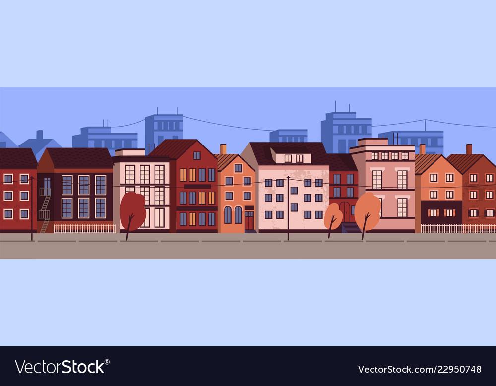 Horizontal urban landscape or cityscape