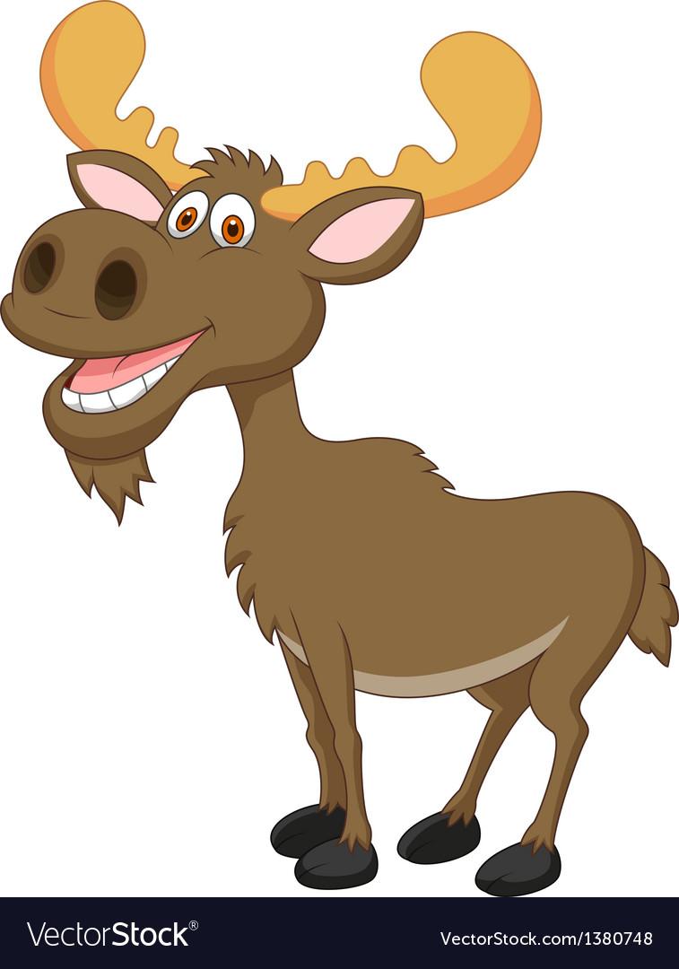 moose cartoon royalty free vector image vectorstock rh vectorstock com cartoon moose head pictures moose cartoon pictures free