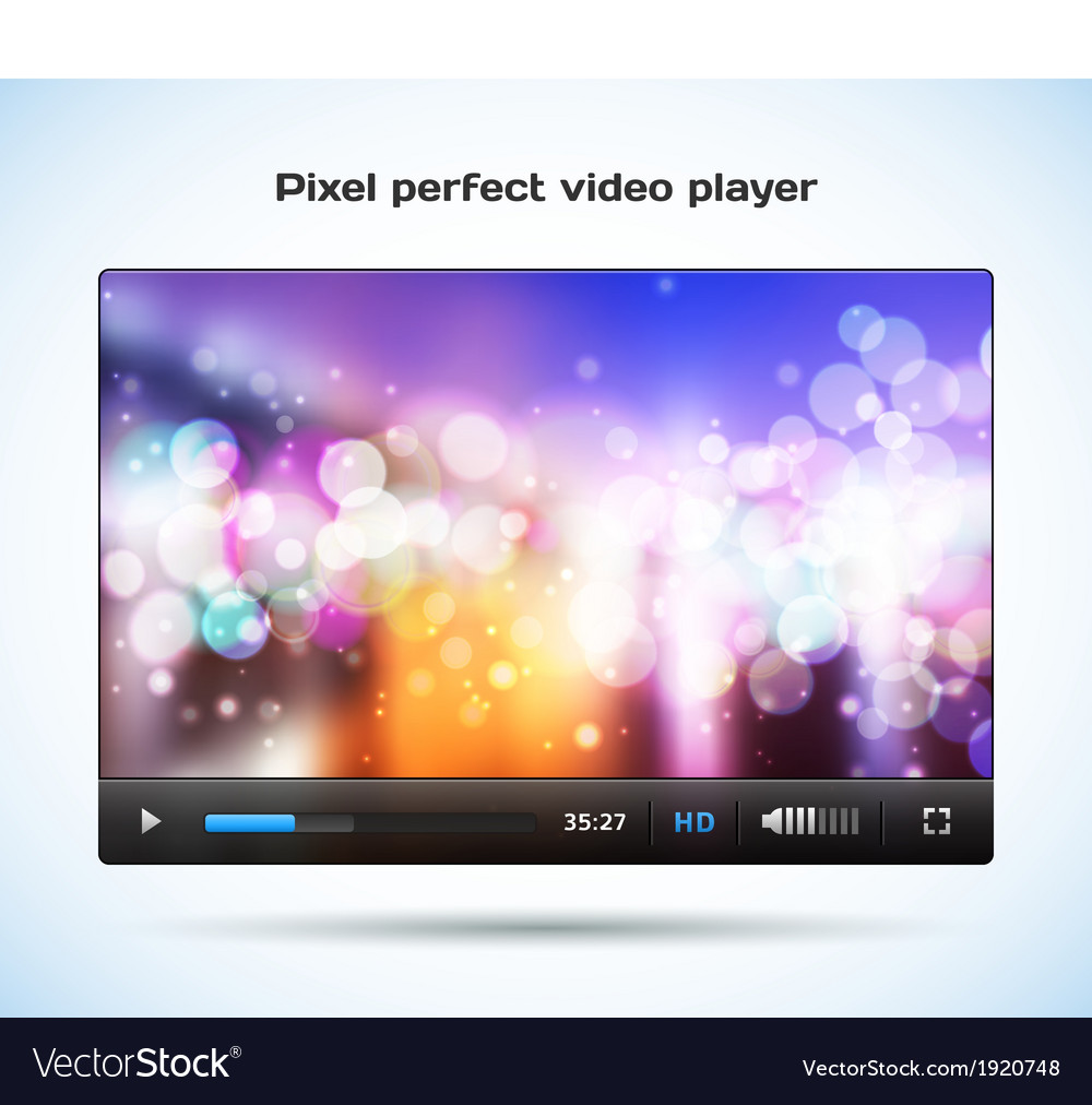 Pixel perfect video player for web