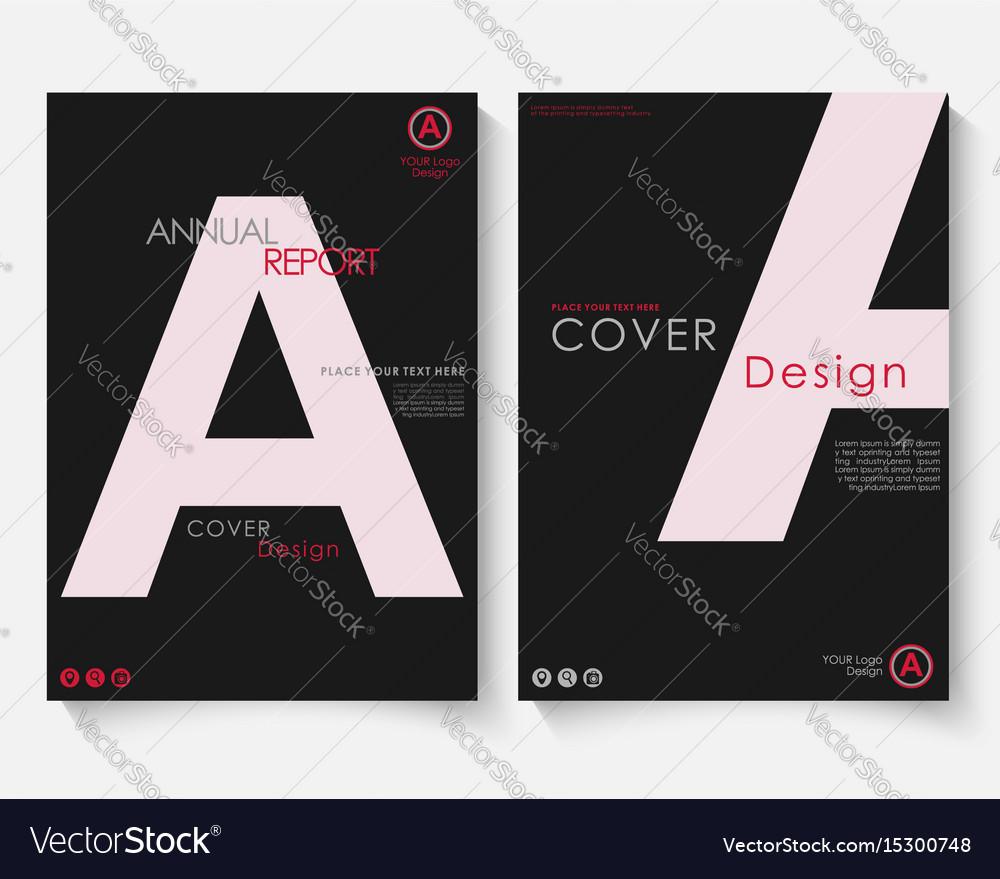 White letter annual report cover design template