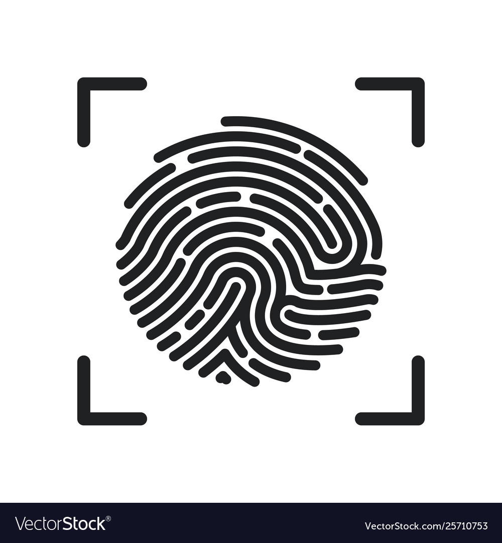 Circle fingerprint icon design for app finger