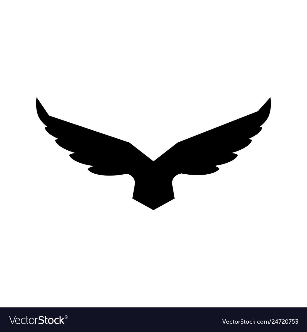 Falcon soaring rising wings logo design