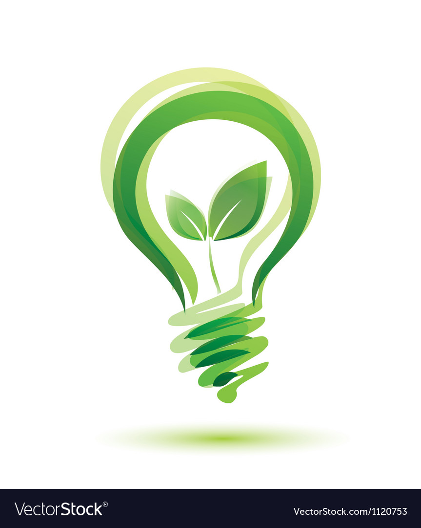 Green bulb eco energy concept Royalty Free Vector Image for Green Light Bulb Logo  181plt
