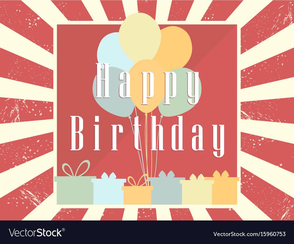 Happy birthday card celebration banner festive