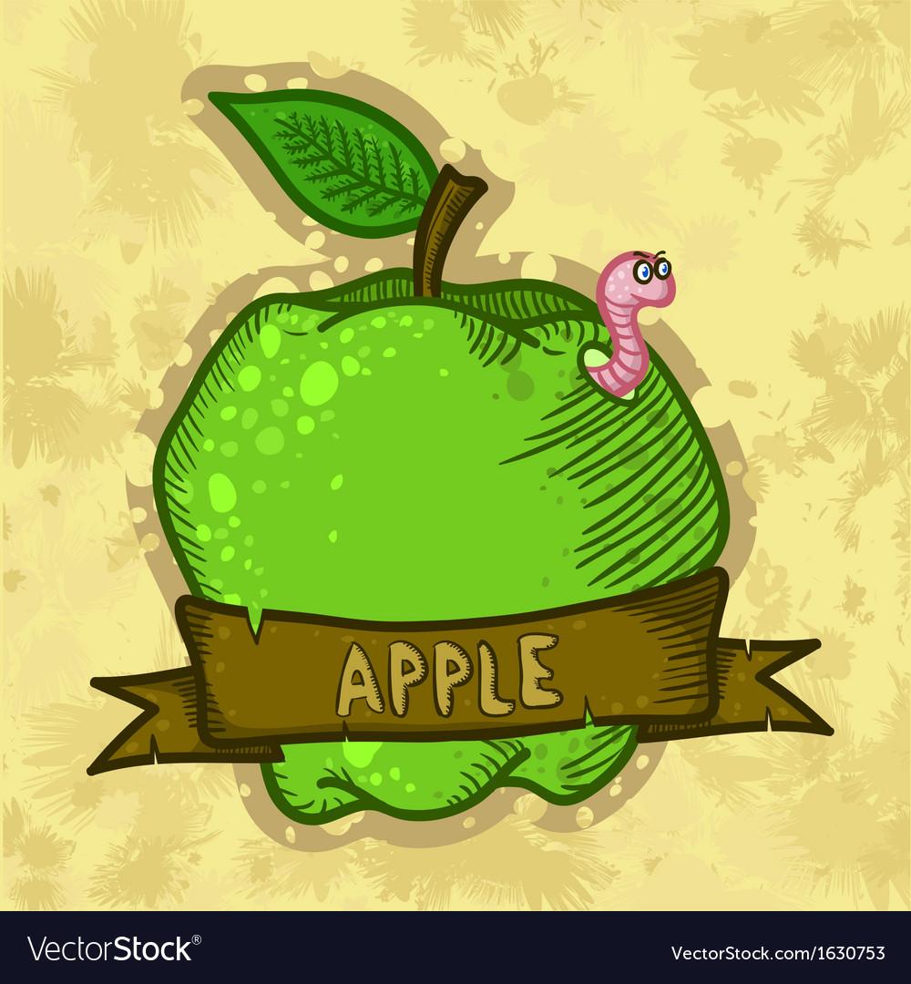 Retro Fresh Apple Poster Design