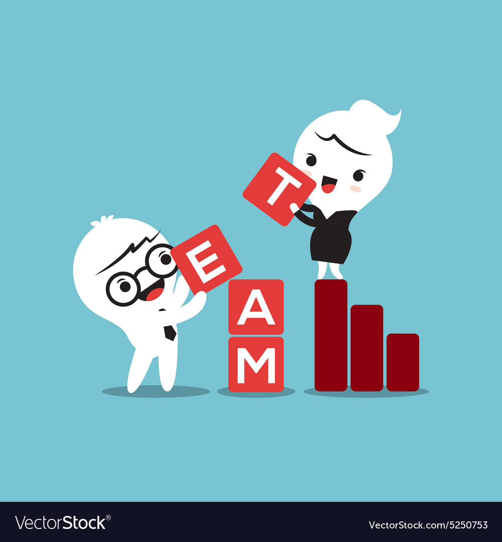 Team building activities business concept cartoon vector image