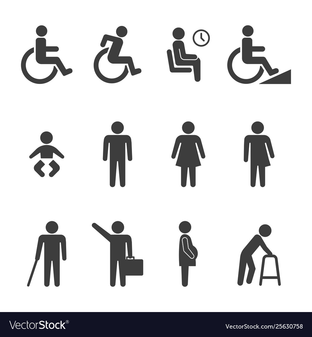 Accessibility and accessible icon set