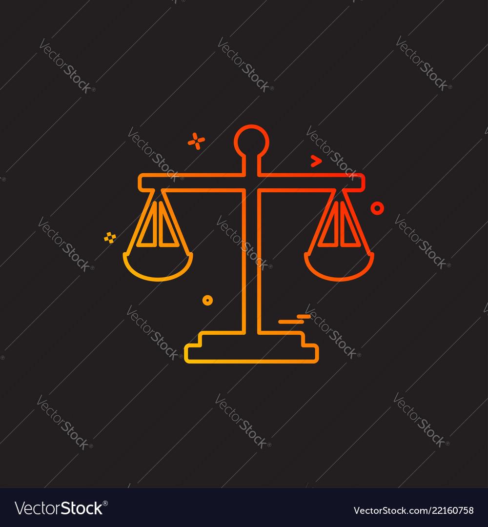 Balance risk analysis risk evaluation scale icon