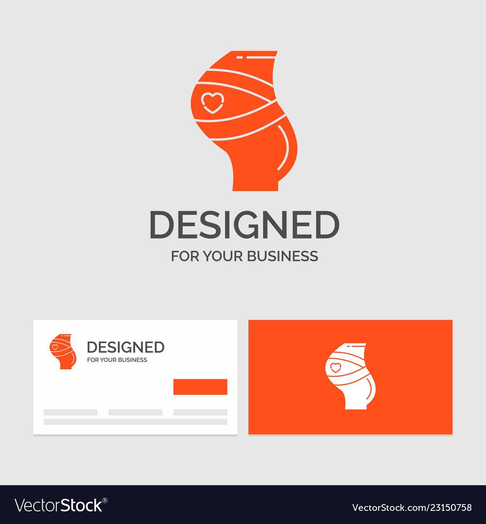 business logo template for belt safety pregnancy vector image