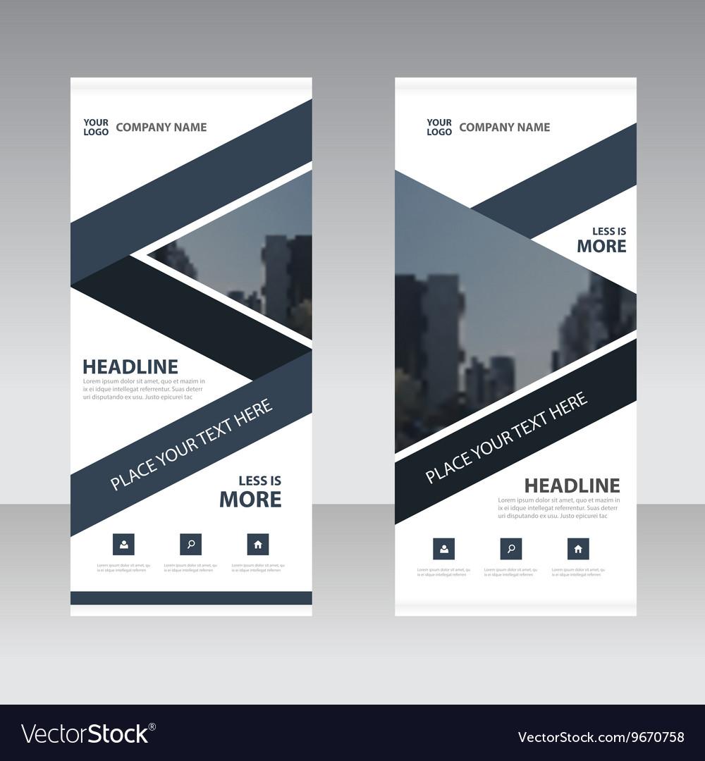 Business Roll Up Banner flat design templates set