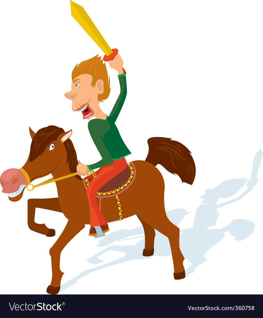 Cavalry games vector image