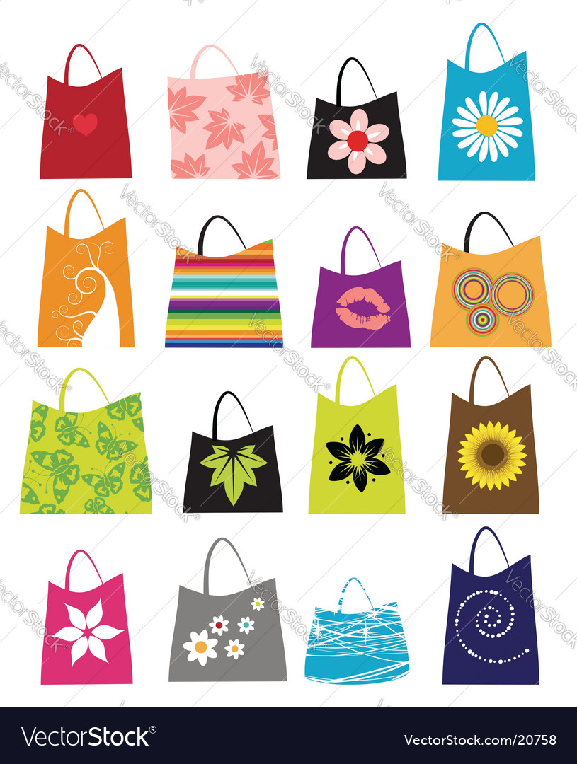Fashion women bags vector image