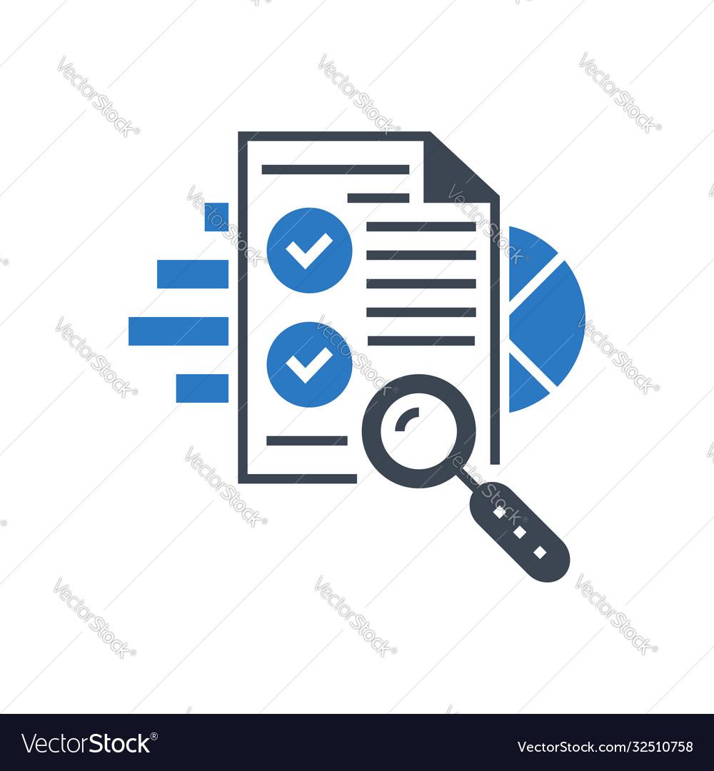 Seo audit glyph icon