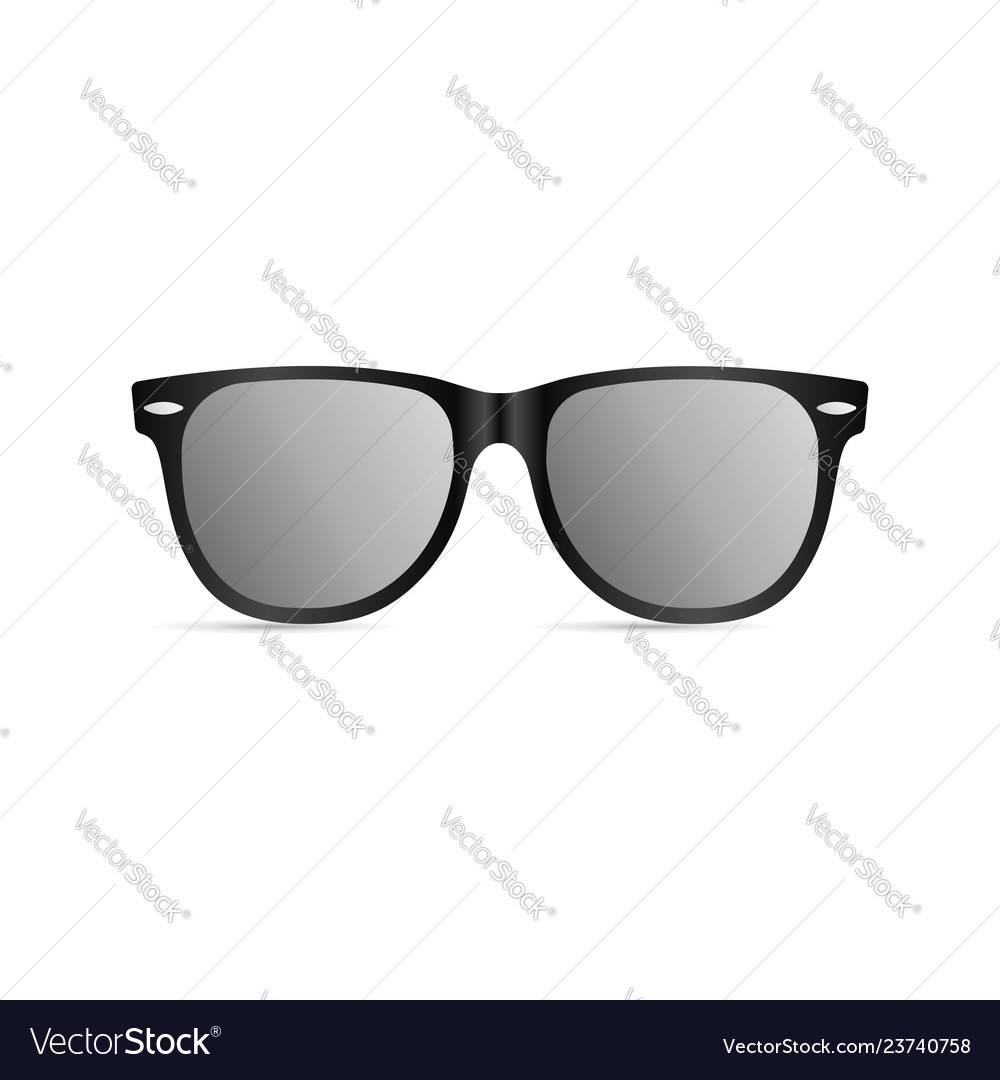 Sunglasses with black plastic frame