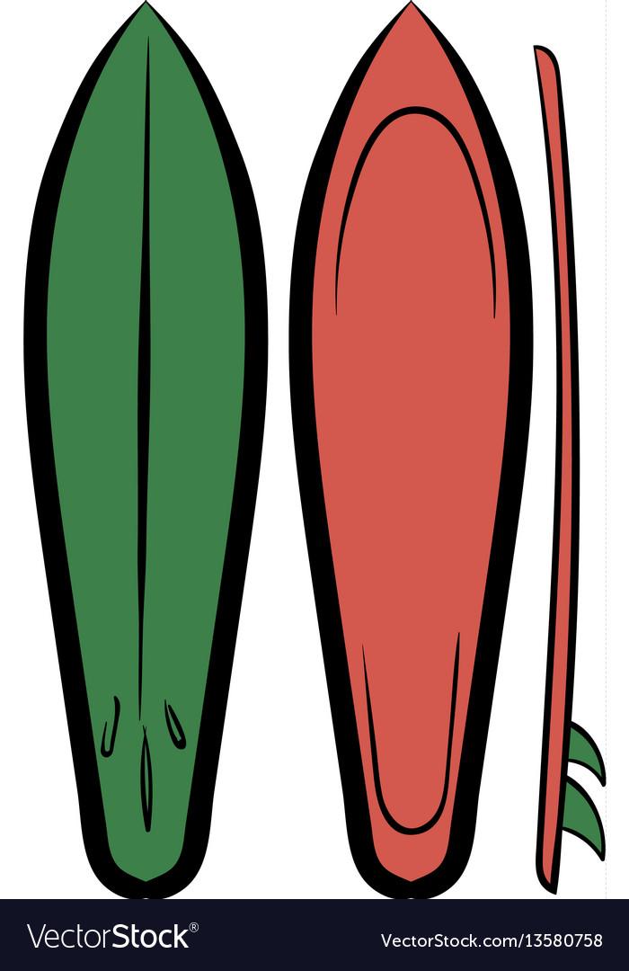 Surfboards icon cartoon