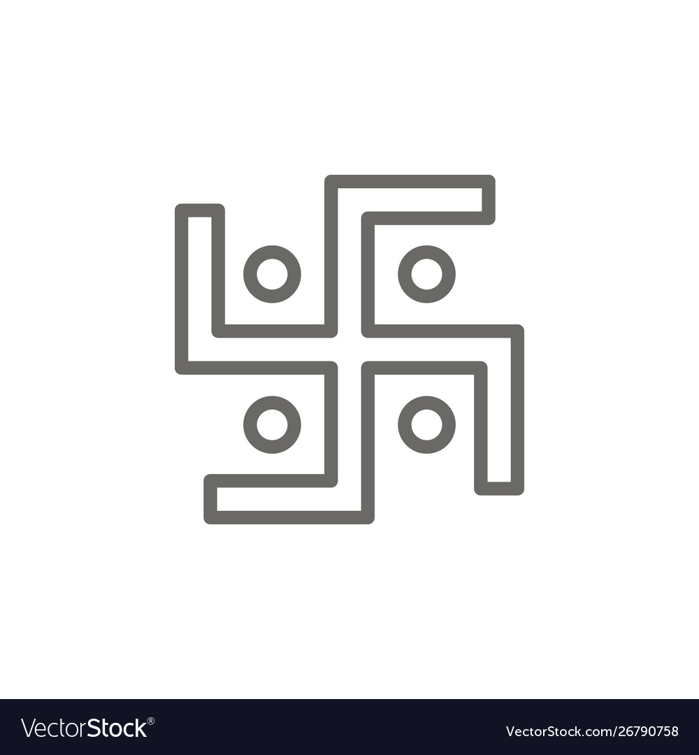 Swastika symbol icon spiritual concept
