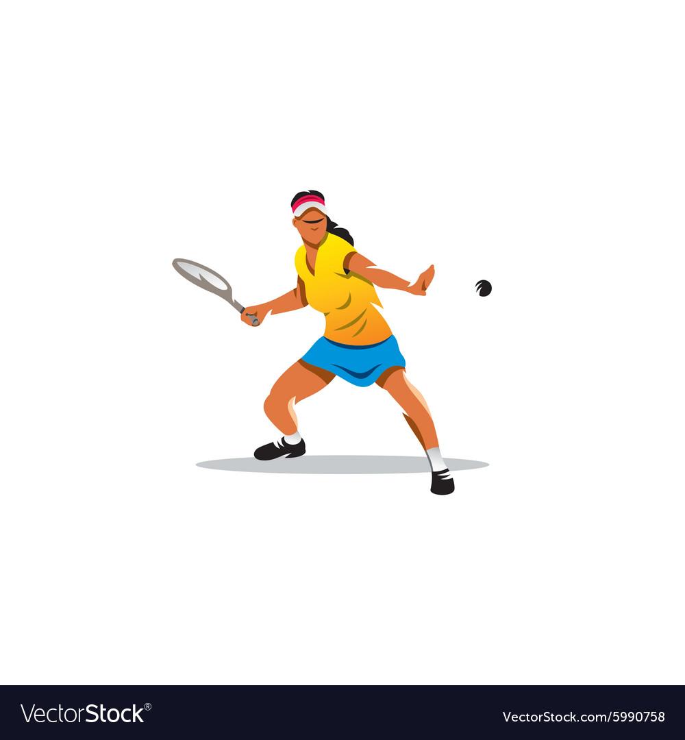 Tennis girl sign vector image